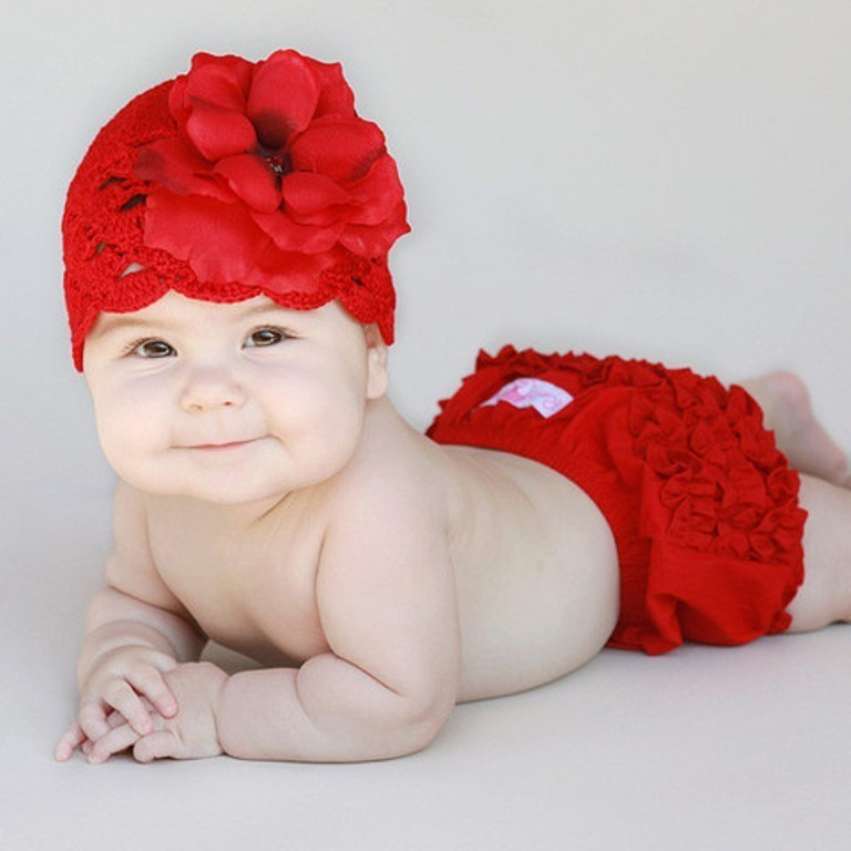 red_rose_and_red_crochet_hat_large 20 Marvelous & Catchy Crochet Hats for Newborn babies