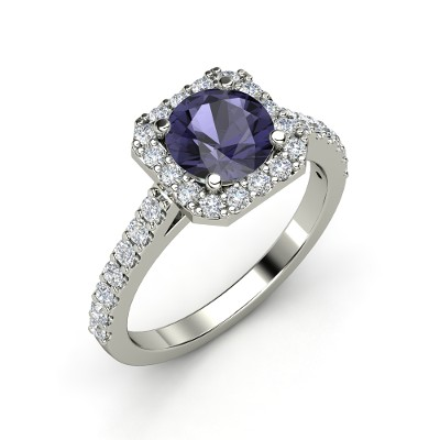 round-iolite-platinum-ring-with-diamond Iolite stone [11 Hidden Secrets and Facts...]