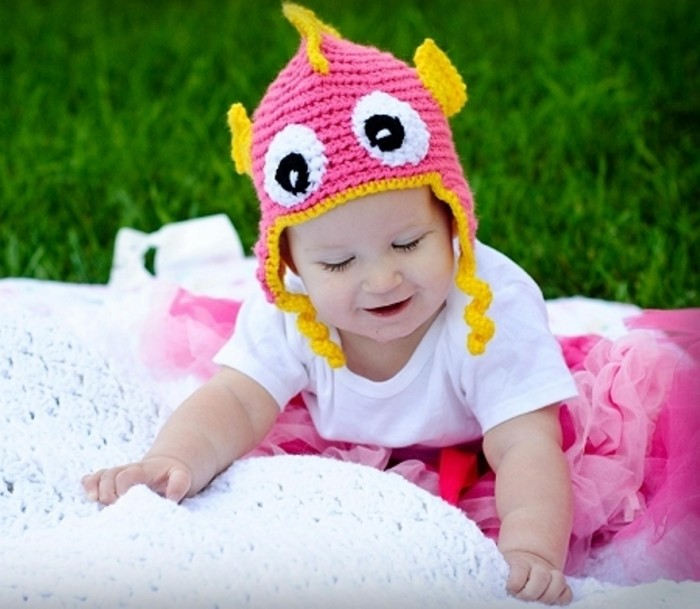 sbk05 20 Marvelous & Catchy Crochet Hats for Newborn babies