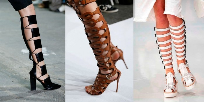 spring-2014-breaking-trends-strappy-high-boots 2017 Boot Trends for Women