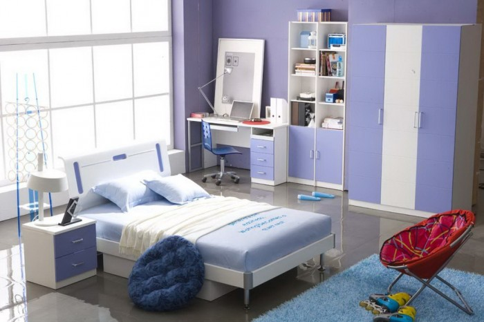 teens-bedroom-relaxing-placid-blue-interior-ideas-for-teenage-girls-trendy-room-trendy-bedroom-interior-for-smart-girls 37+ Latest Home Interior Color Trends