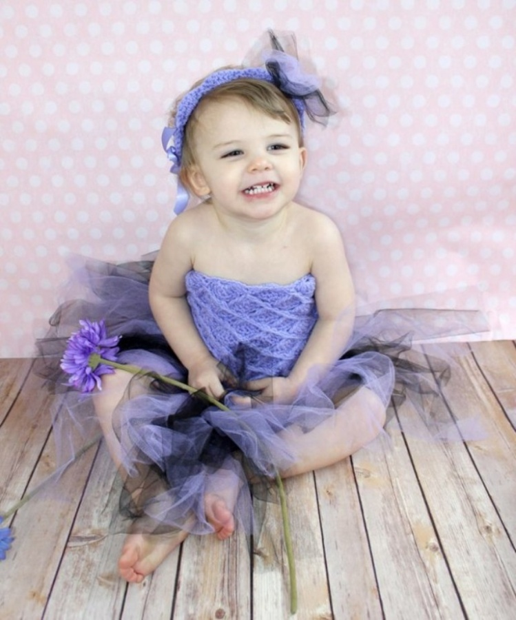 tutu-3-624x749 25 Magnificent & Dazzling Collection of Crochet Dresses for Baby Girls