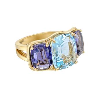 verdura-aquamarine-iolite-three-stone-ring Iolite stone [11 Hidden Secrets and Facts...]