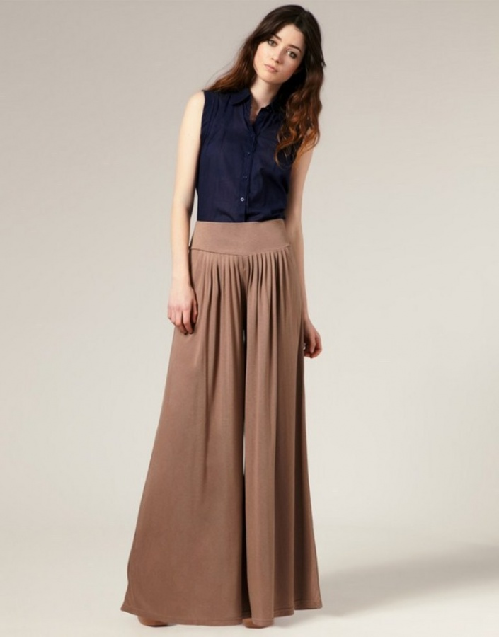 woman-Palazzo-Pants-Fashion-Trend-2014 Top 10 Best Fashion Trends Tips