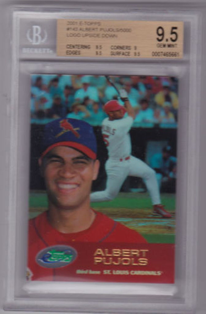2001-ALBERT-PUJOLS-E-TOPPS-BGS-9.5-GEM-MINT-ROOKIE-Logo-Upside-Down-Error Top 10 Most Valuable & Expensive eTopps Sports Cards