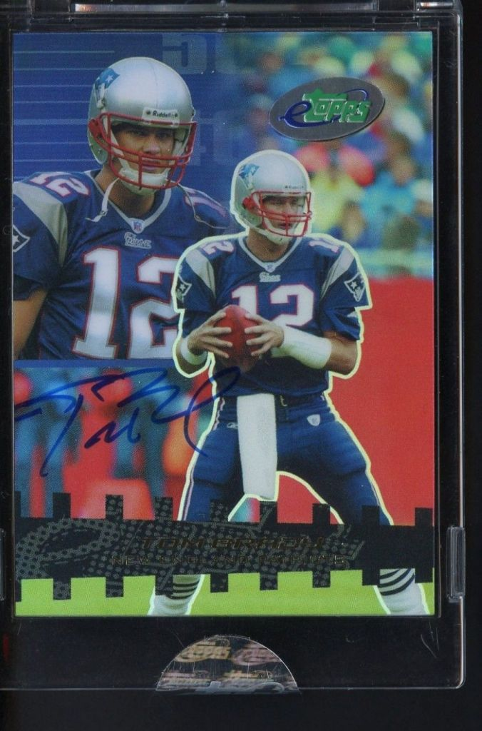 2003-eTopps-55-Tom-Brady-Signed-AUTO-New-England-Patriots Top 10 Most Valuable & Expensive eTopps Sports Cards