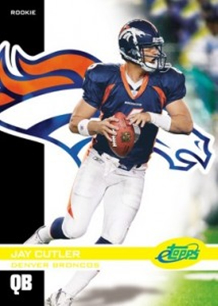2006-Jay-Cutler-RRO-RC-eTopps-In-Hand-Chrome-Like Top 10 Most Valuable & Expensive eTopps Sports Cards