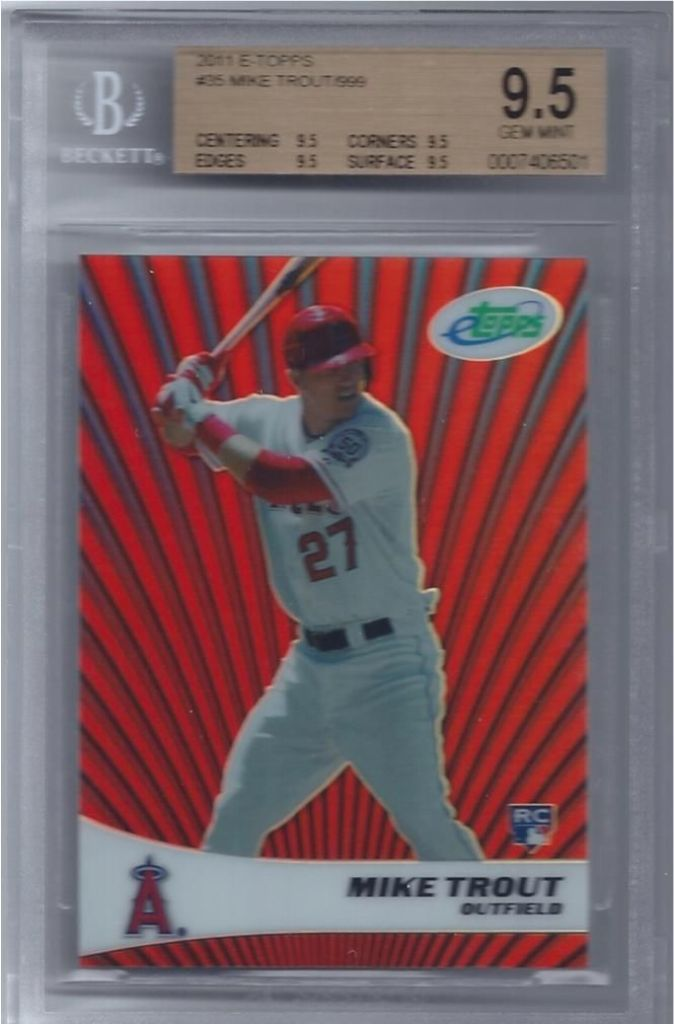 2011-Mike-Trout-eTopps-Refractor-RC-BGS-9.5-Gem-Mint-wfour-9.5-subs...-25999 Top 10 Most Valuable & Expensive eTopps Sports Cards