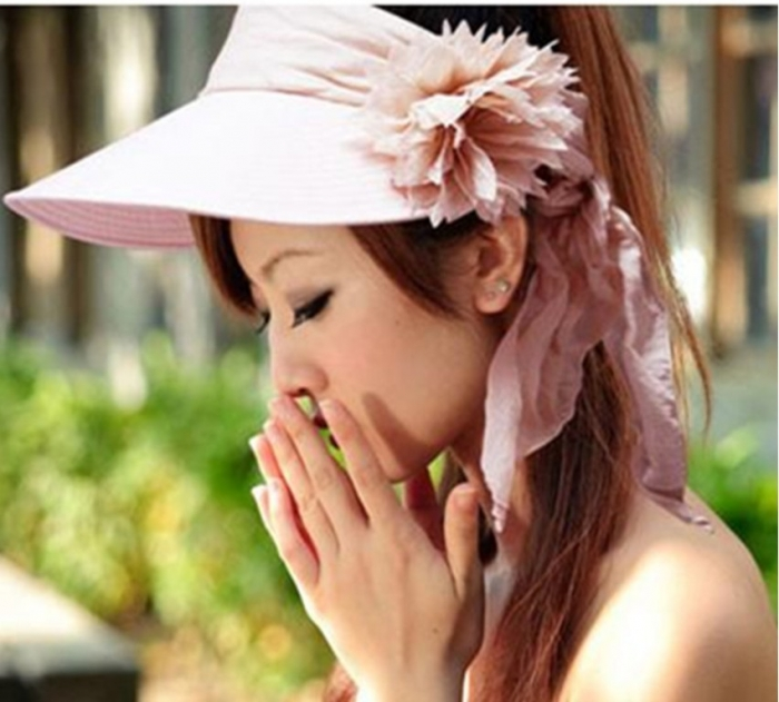 2014-Fashion-Summer-Beach-Sun-Hats-For-Women-Wide-Brim-Foldable-Flower-Floppy-Hat-Sun-Protection 10 Hottest Women's Hat Trends for Summer