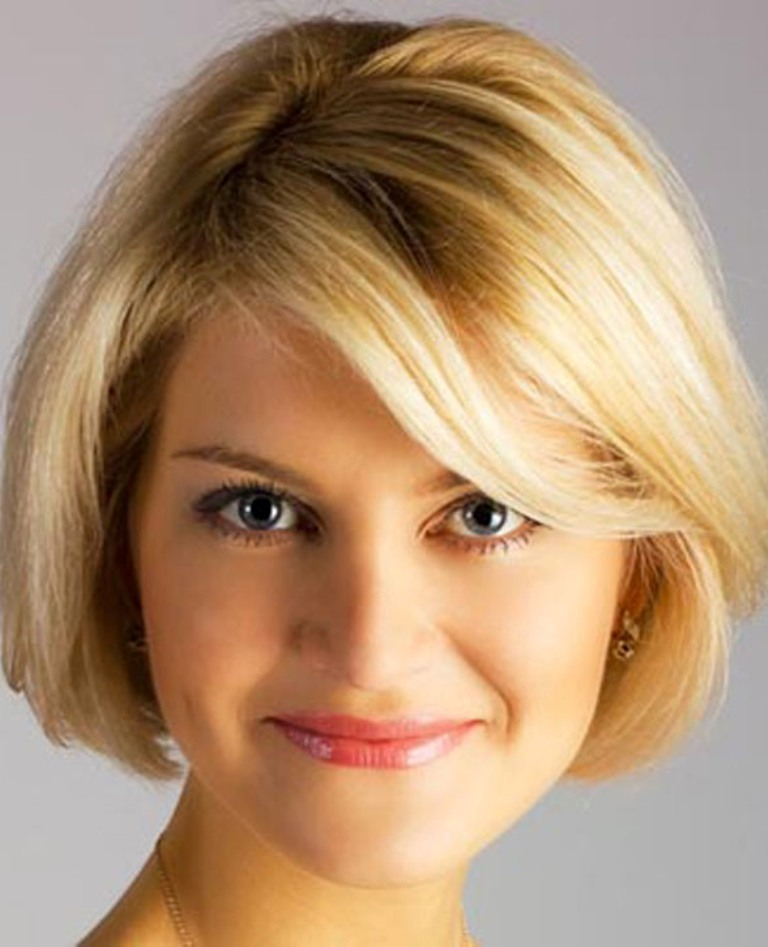 2014 Short Hair Trends for Round Faces