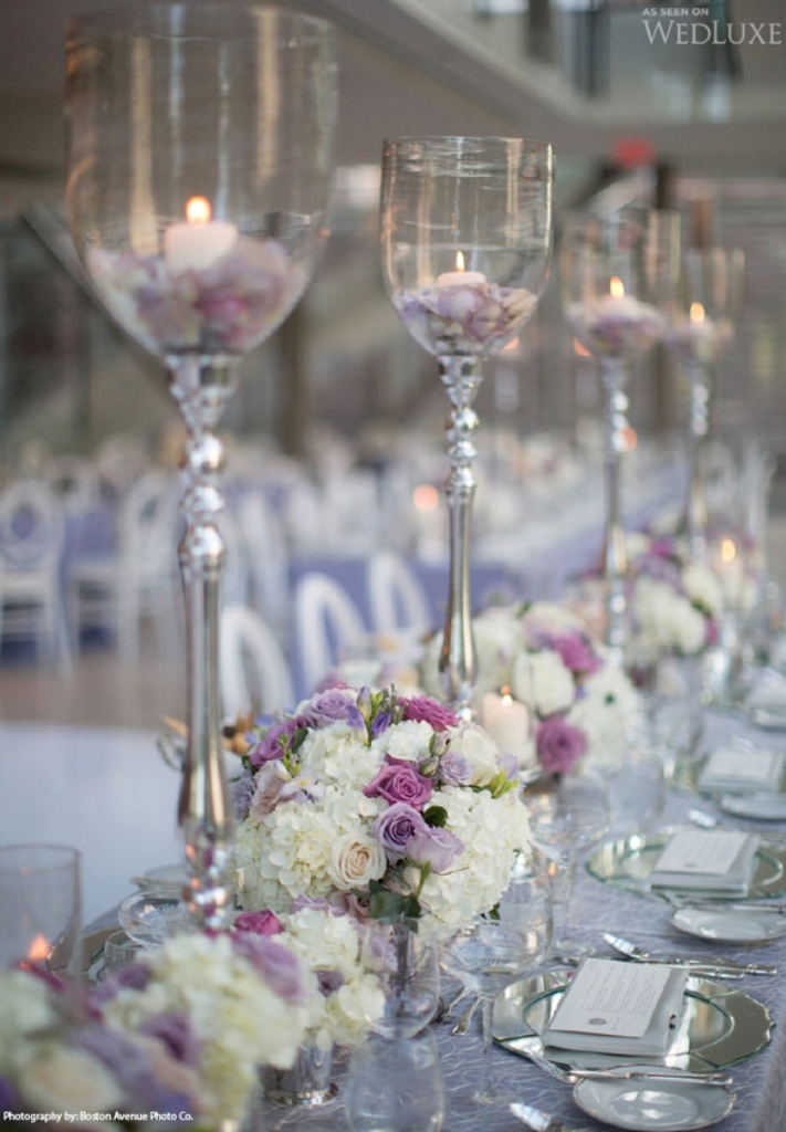 2014-Silver-Lavender-wedding-centerpiece 25+ Breathtaking Wedding Centerpieces Trending For 2019