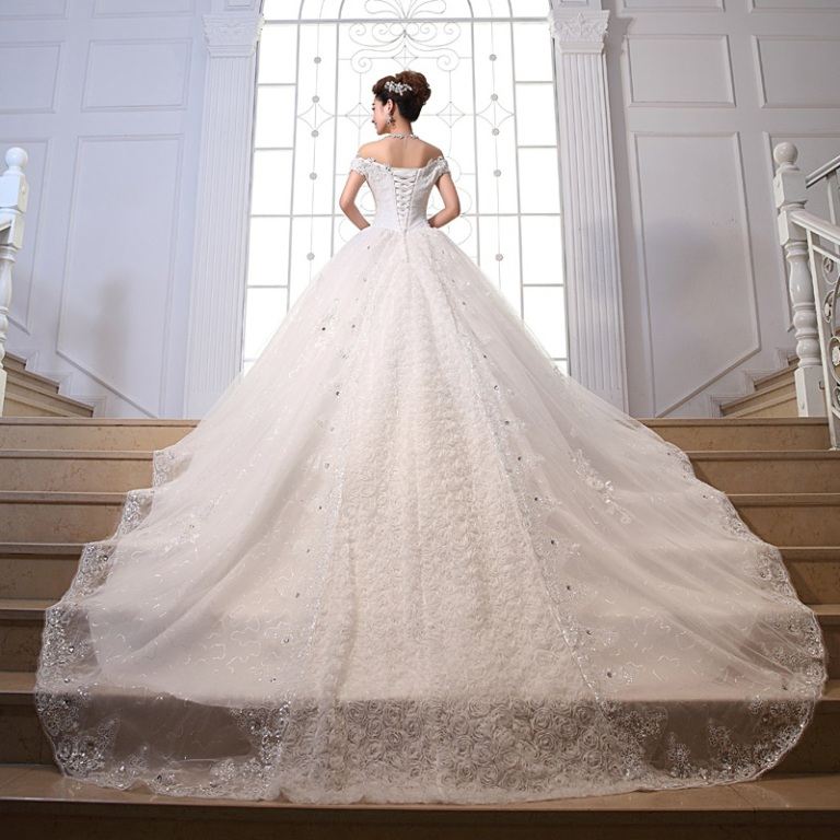 2014-new-summer-bride-romantic-dress-neckline-luxurious-long-trailing-alibaba-font-b-wedding-b-font 25+ Breathtaking Wedding Decoration Ideas in 2020