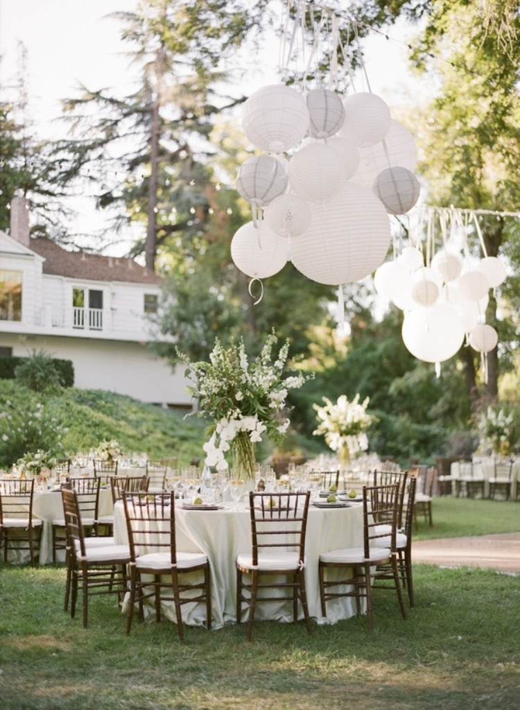 2014-trends-all-white-rustic-diy-backyard-wedding-receptions-ideas-with-ballons Newest 20 Wedding Trends for 2019