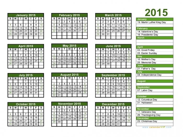 2015-Calendar-02 Top 15 Holiday Calendar Designs [EXCLUSIVE] ...