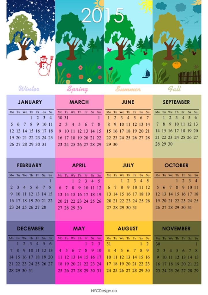 2015-Calendar-4Seasons-001 Top 15 Holiday Calendar Designs [EXCLUSIVE] ...