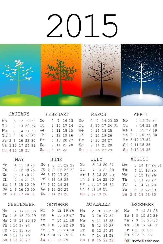 2015-Calendar-with-seasons Top 15 Holiday Calendar Designs [EXCLUSIVE] ...