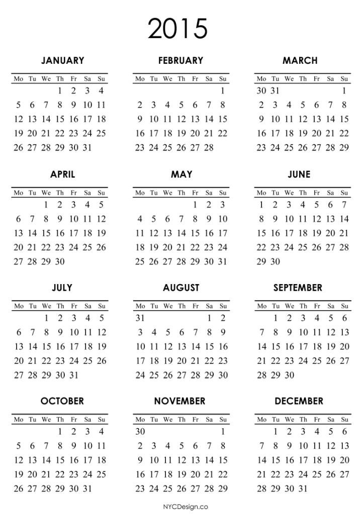 2015-calendar-17 Best 15 Printable Calendar Templates