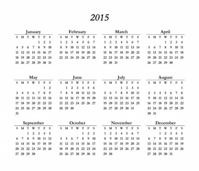 2015-calendar-template Best 15 Printable Calendar Templates