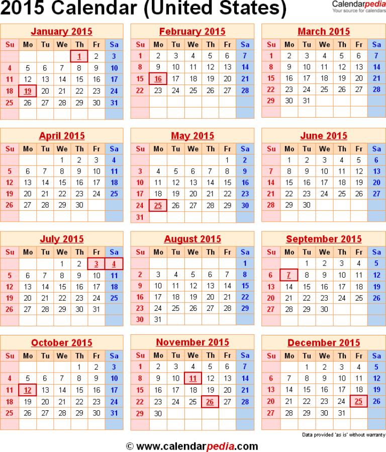 2015-calendar-usa Top 15 Holiday Calendar Designs [EXCLUSIVE] ...