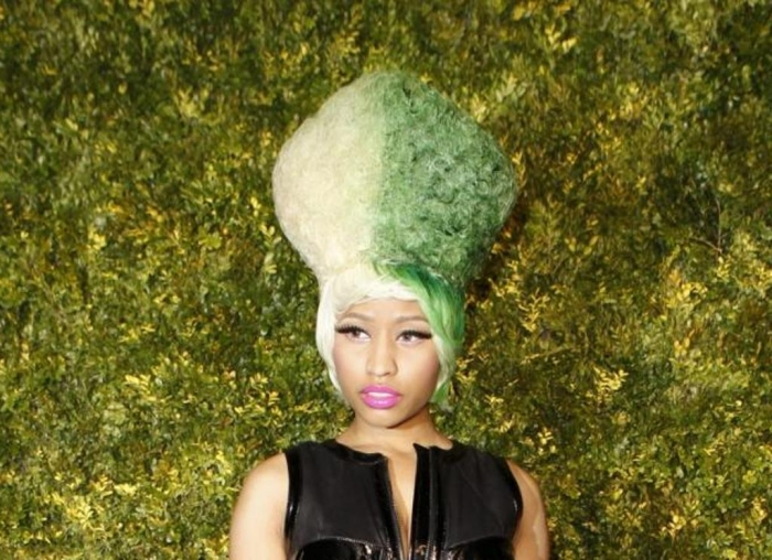 231453-singer-nicki-minaj-arrives-for-the-christies-green-auction-bid-to-save 20 Weird and Funny Celebrity Hairstyles
