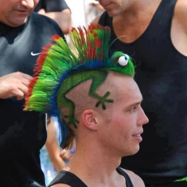 4 25 Funny and Crazy Hairstyles to Change Yours