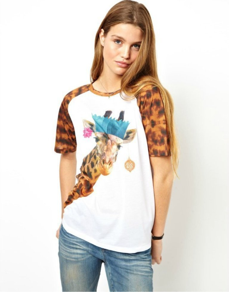 AS139-2014-spring-summer-new-Europe-fashion-clothes-cute-animal-cartton-font-b-giraffe-b-font 35+ Latest European Fashion Trends for Spring & Summer 2019