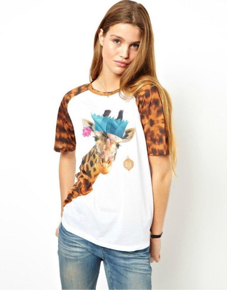 AS139-2014-spring-summer-new-Europe-fashion-clothes-cute-animal-cartton-font-b-giraffe-b-font 35+ Latest European Fashion Trends for Spring & Summer 2019