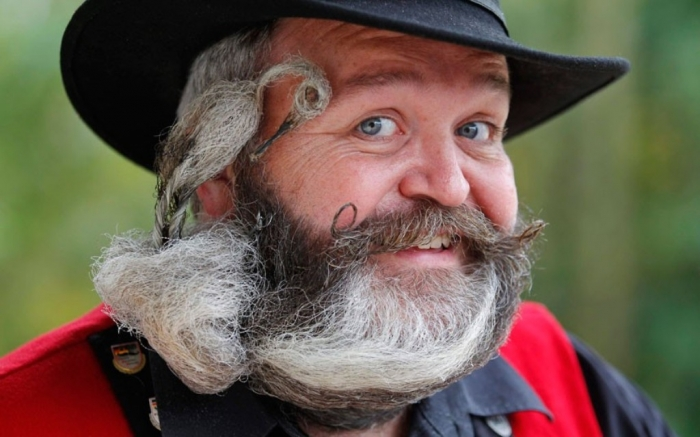 Beard-and-Moustache-Championships-3 25 Crazy and Bizarre Beard and Moustache Styles