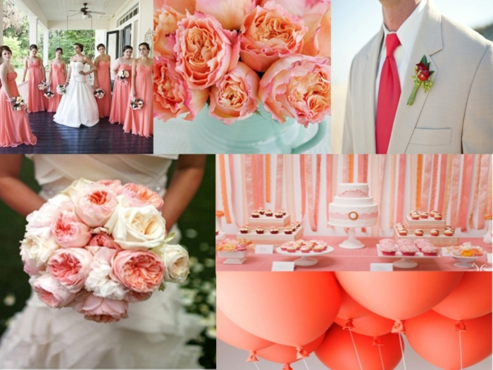 Coral-Summer-Wedding-Inspiration-Board Top 10 Modern Color Trends for Weddings Planned in 2019