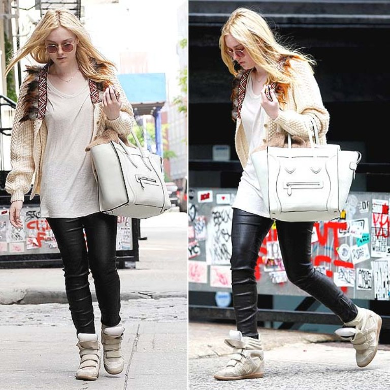 Dakota-Fanning-wedge-sneakers-shoes-by-Isabel-Marant Top 20 Fashion Trends that Men Hate