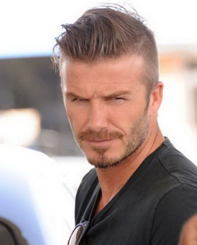 David-Beckham-Short-Haircuts-2014 15+ Stylish Celebrity Beard Styles for 2020