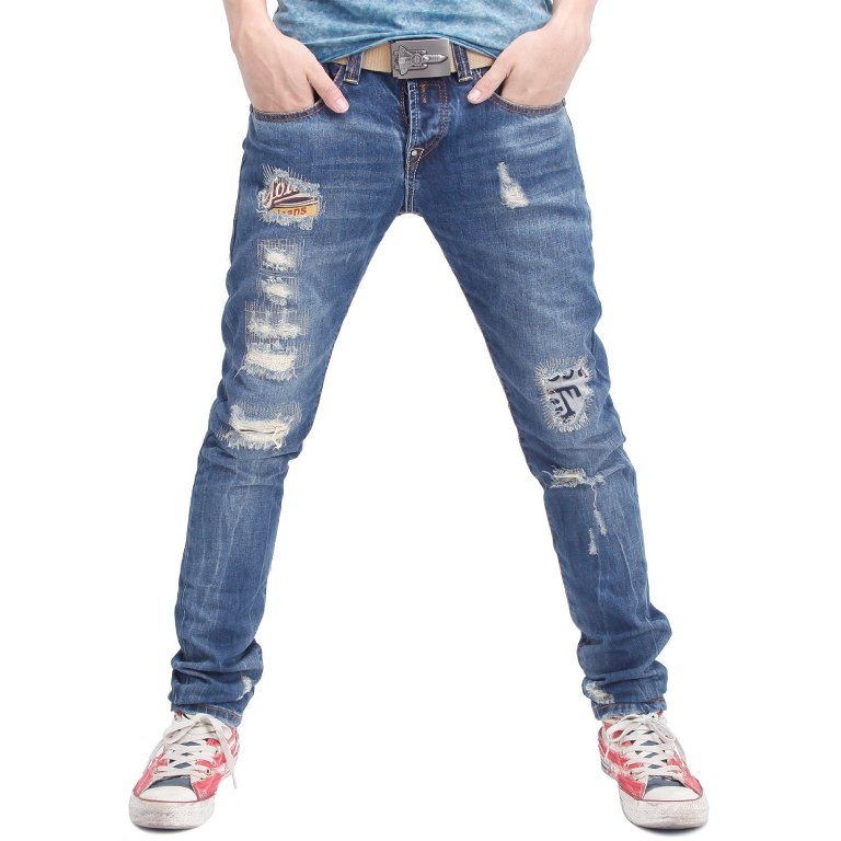 Doublju-ripped-jeans-for-men 80's Fashion Trends for Men