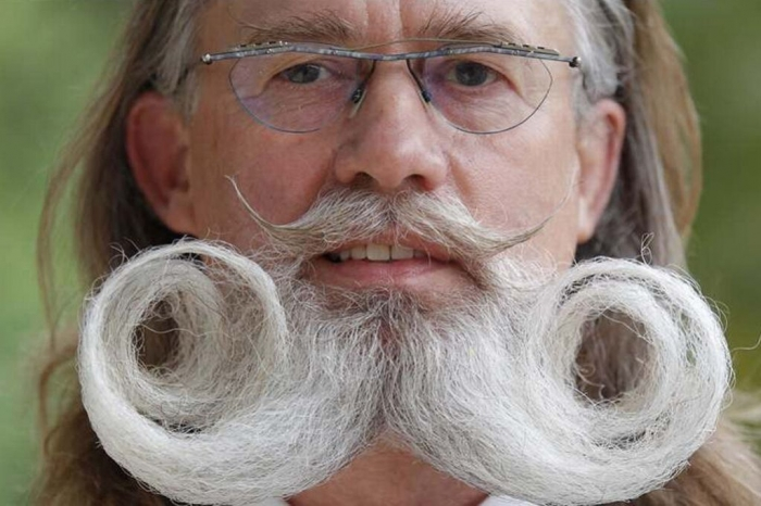 European-Beard-and-Moustache-Championships 25 Crazy and Bizarre Beard and Moustache Styles