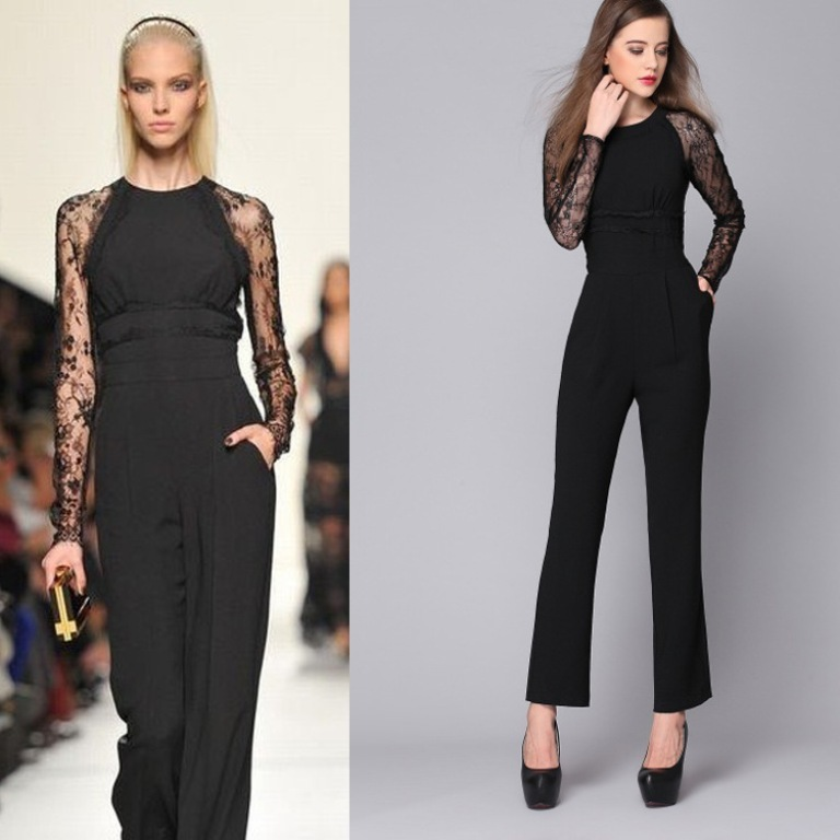 European-New-Trend-Women-s-Fashion-Tstage-Runway-Jumpsuit-2014-Lady-Spring-Top-Quality-Sexy-Black 35+ Latest European Fashion Trends for Spring & Summer 2019