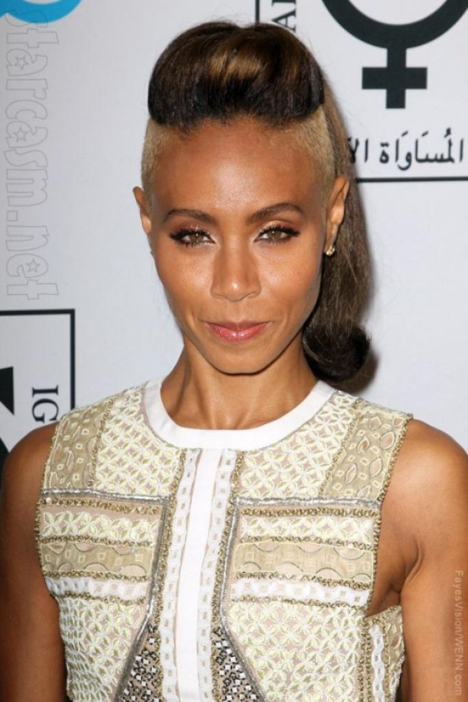Jada_Pinkett_Smith_shaved_hair 20 Weird and Funny Celebrity Hairstyles