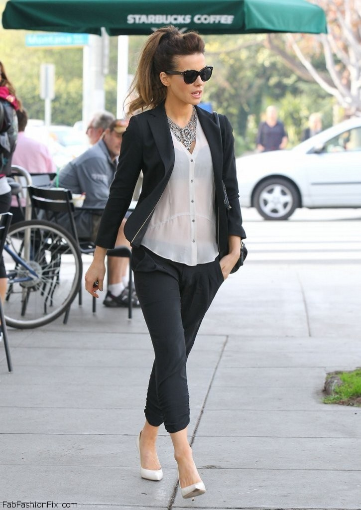 Kate-Beckinsale-out-in-LA-January-28-2014-022 Top 10 Celebrity Casual Fashion Trends for 2019