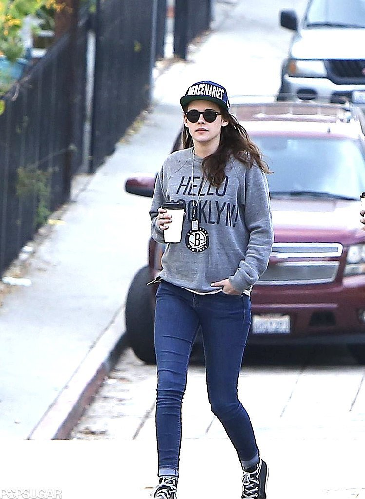 Kristen-Stewart-walked-through-streets-LA Top 10 Celebrity Casual Fashion Trends for 2019