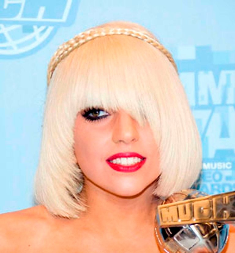 Lady-GaGa-Asymmetric-Fringe-Hairstyle 20 Weird and Funny Celebrity Hairstyles