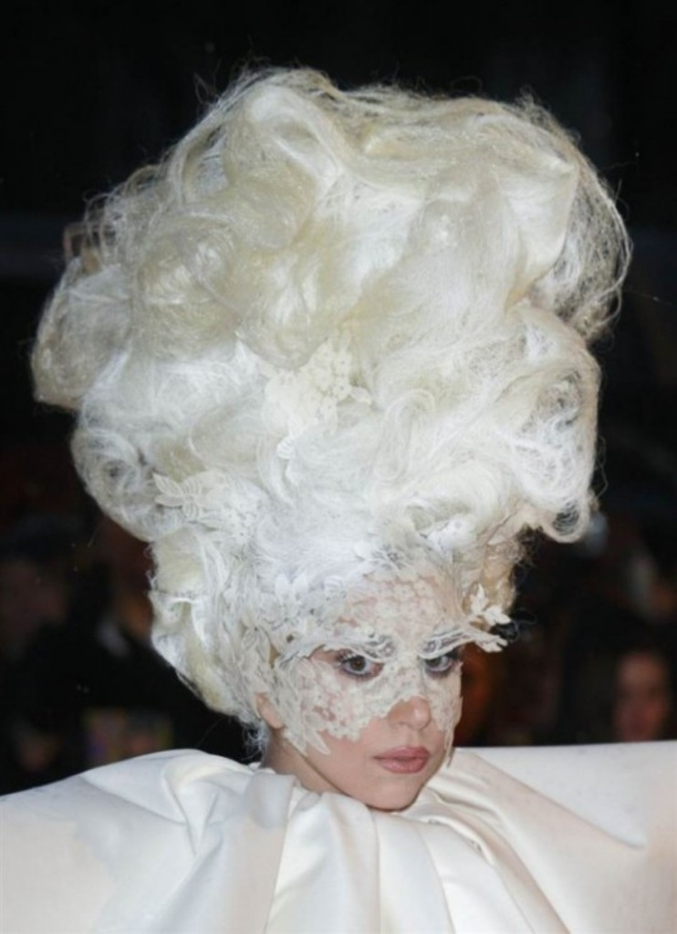 Lady-Gaga-Hairstyles-5-576x795-2t9k11vkt0tll839jouyve 20 Weird and Funny Celebrity Hairstyles