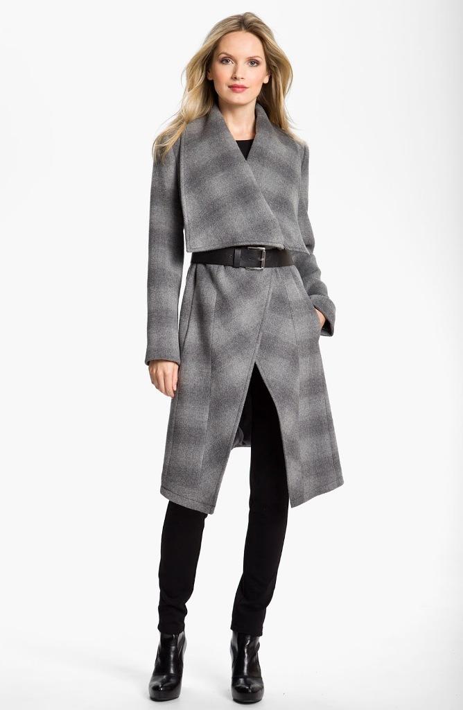 MICHAEL-BY-MICHAEL-KORS-Gray-Belted-Blanket-Coat 20 Elegant Jacket & Coat Trends for Fall & Winter 2020