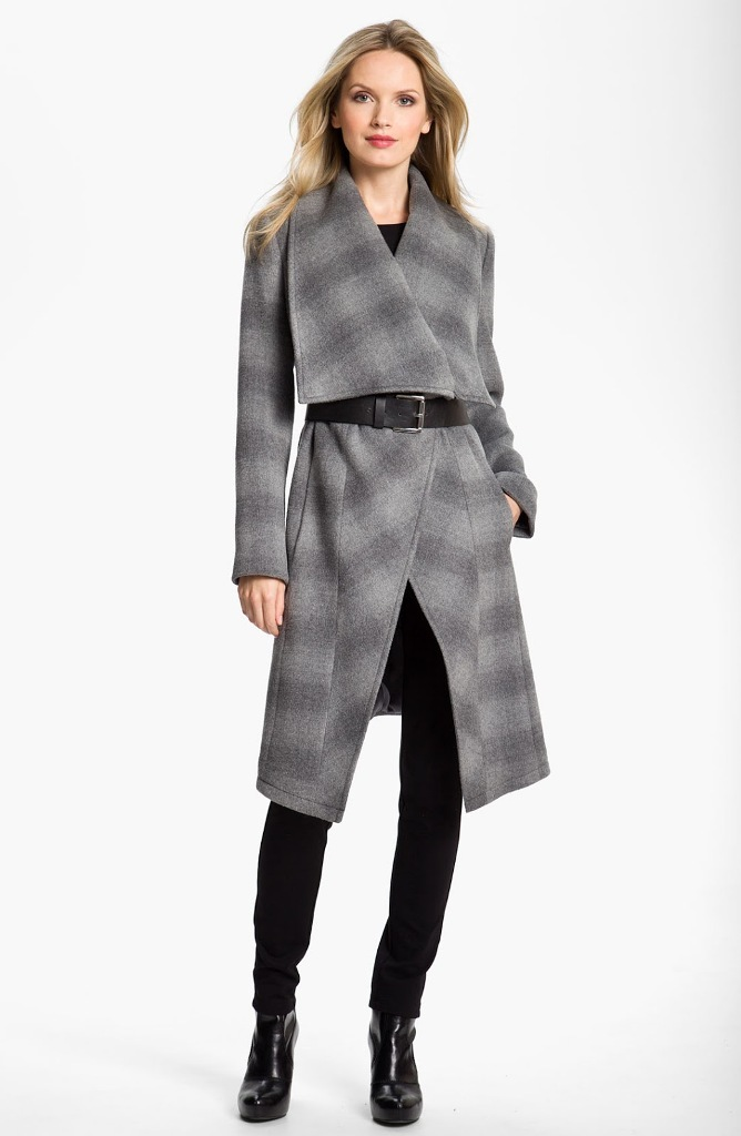 MICHAEL-BY-MICHAEL-KORS-Gray-Belted-Blanket-Coat Top 20 Jacket & Coat Trends for Fall & Winter 2019