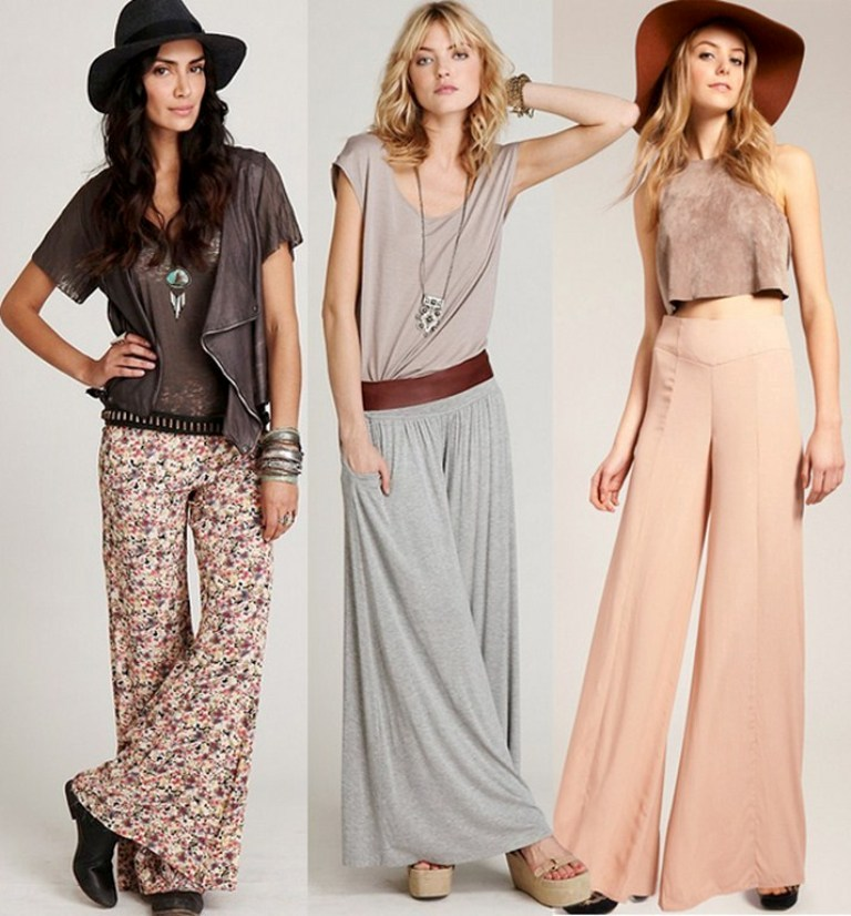 New-Palazzo-Pants-Fashion-Trend-2014-for-women Top 12 Hottest Women's Color Trends Coming for 2019