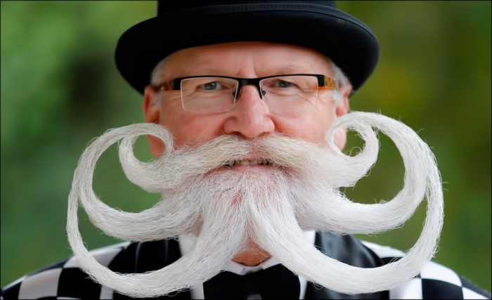 Photo-by-REUTERS-Vincent-Kessler 25 Crazy and Bizarre Beard and Moustache Styles