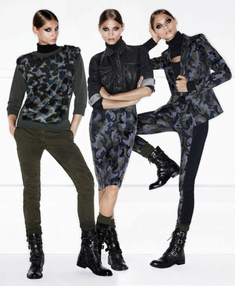Pinko-Autumn-Winter-2013-2014-Campaign-1 20 Military Clothing Fashion Trends 2017 ... [UPDATED]