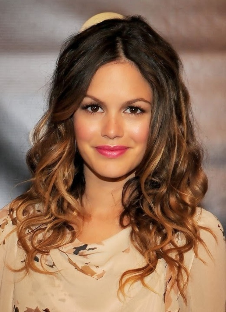 Rachel-Bilson-Casual-Ombre-Toned-Long-Curly-Hairstyle-2013-2014 Celebrity Hair Color Trends for Spring & Summer 2017 ... [UPDATED]