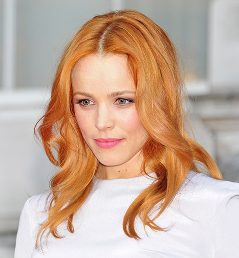 Rachel-McAdams-rosy-gold-hair-color-for-her-light-medium-skin-tone Celebrity Hair Color Trends for Spring & Summer 2017 ... [UPDATED]