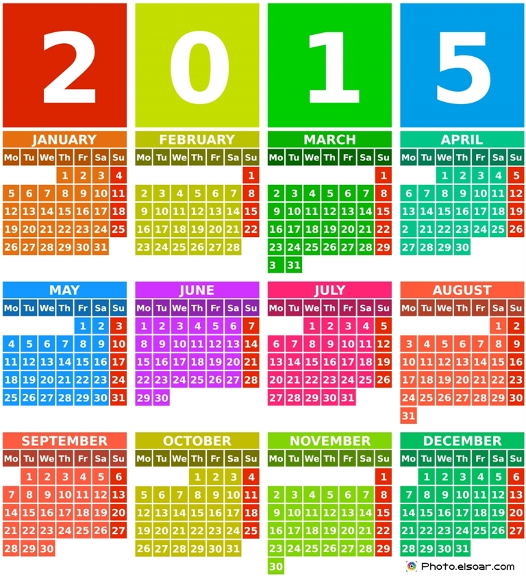 25 Printable New Year Calendars 2015 | Picpuddle