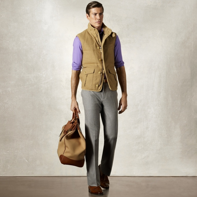 Ralph-Lauren-Purple-Label-Men-Linley-Cashmere-Down-Vest-1 80's Fashion Trends for Men