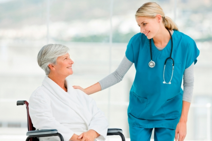 Resident-with-HomeCare-Provider Top 10 Current Trends in Healthcare System