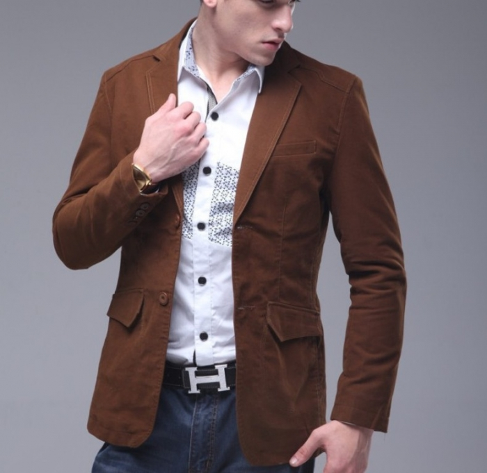 Spike-Spring-2014-fashion-trends-men-s-Autumn-single-breasted-commercial-suit-slim-casual-outerwear-designer 2017 Men's Color Trends ... [UPDATED]